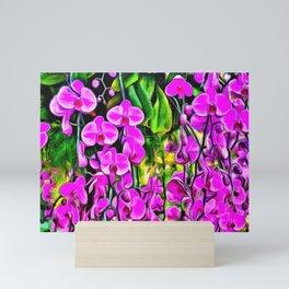 Purple Painterly Orchid Vines Mini Art Print