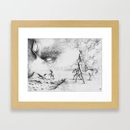 Strange mind strange places Framed Art Print