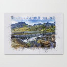 Snowdonia Tryfan Painting Canvas Print