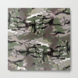 Camo Camo, and the art of disappearing. Metal Print
