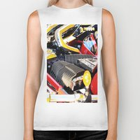 motorcycle Biker Tanks featuring Motorcycle by Carlo Toffolo