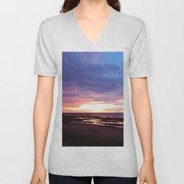 Cloudy Sunset Unisex V-Neck