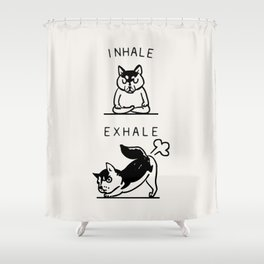 Inhale Exhale Husky Shower Curtain