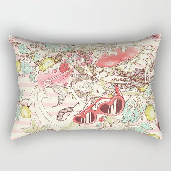 Sea, Sun and Fun - Pt. 2 - pink tones Rectangular Pillow