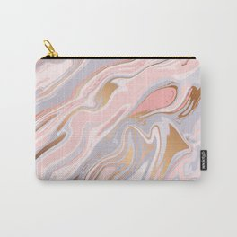 Marbled Rose Gold In Pastel Pink Carry-All Pouch