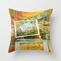 lee pace Throw Pillows featuring Pace by Angela Bruno