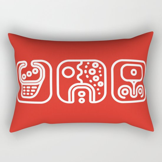 Mayan Glyphs ~ ABSTRACT Rectangular Pillow