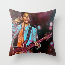 Purple Funk Throw Pillow
