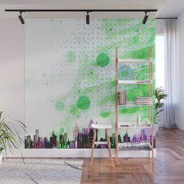 Bright Architecture and Snowflakes #2 Wall Mural