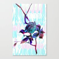 birdy Canvas Prints featuring Birdy by Cata