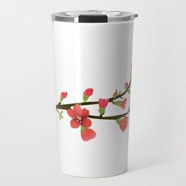Flowering Quince Flowers Travel Mug