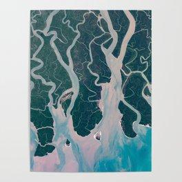 Sundarbans Mangroves from space Poster