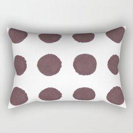 Big Polka Dots in Berry Rectangular Pillow