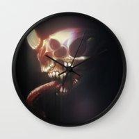 nightmare Wall Clocks featuring Nightmare by Rudolf Odobasic
