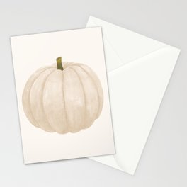 White Pumpkin Stationery Cards