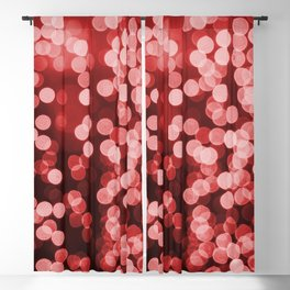 Red Bokeh Christmas Lights Effect Blackout Curtain