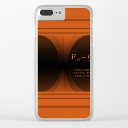 Black Hole gold. Clear iPhone Case