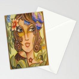 Mona Lisa's Butterflys Stationery Cards