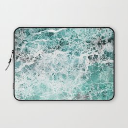 Sea foam teal marble Laptop Sleeve