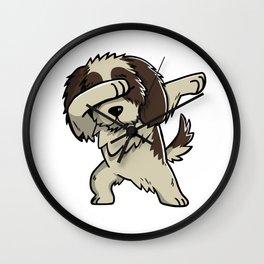 Dabbing Shih Tzu Dog Dab Dance Wall Clock