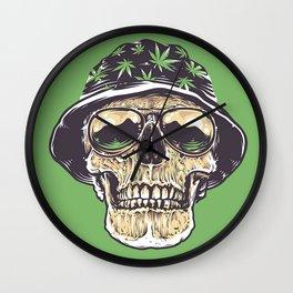 skeleton hat drug Wall Clock