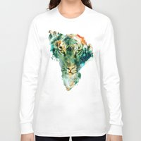 wildlife Long Sleeve T-shirts featuring African Wildlife by RIZA PEKER