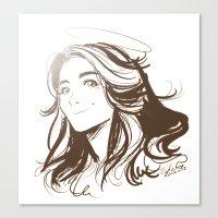allison argent Canvas Prints featuring Allison Argent by littlecofiegirl