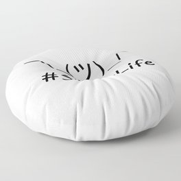 #ShrugLife Floor Pillow
