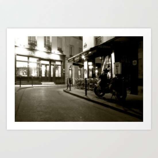 A Sidestreet in Paris, France Art Print