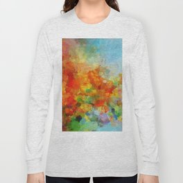 Abstract and Minimalist Landscape Painting Long Sleeve T-shirt