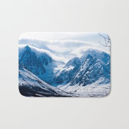 mystery mountains in North of Norway Bath Mat