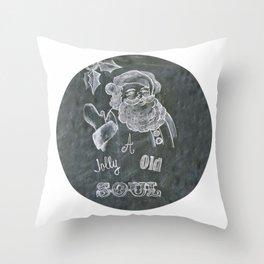 Santa St. Nick Chalkboard holiday message Throw Pillow