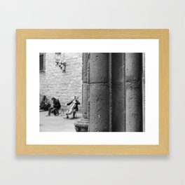 Musicians in the Gothic Framed Art Print