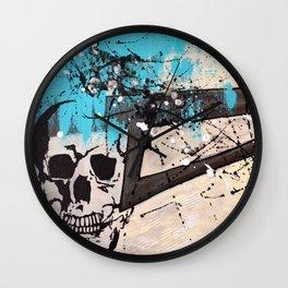Pipe Dream Skully Wall Clock