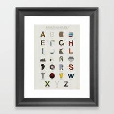 Alfabeto malagueño © Framed Art Print