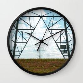Electric landscape Wall Clock