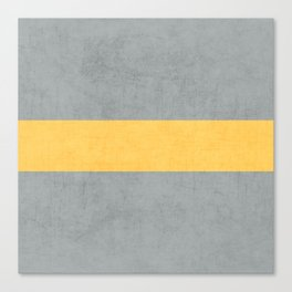 gray and yellow classic Canvas Print