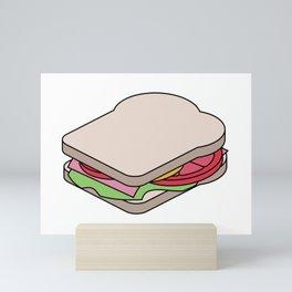 Unexploded Sandwich Diagram.  Graphic Artwork Mini Art Print