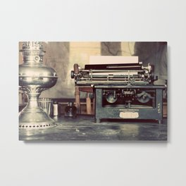 the letter Metal Print