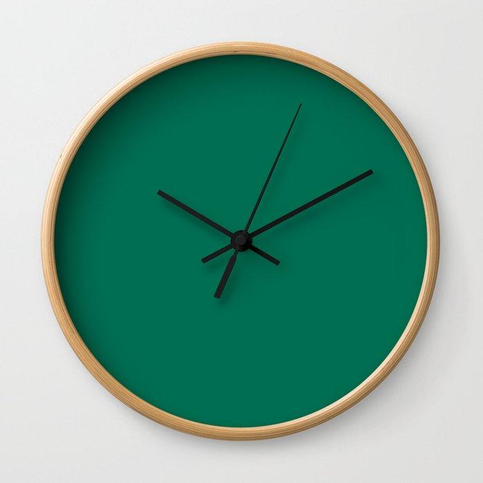 PANTONE 18-5845 Lush Meadow Wall Clock