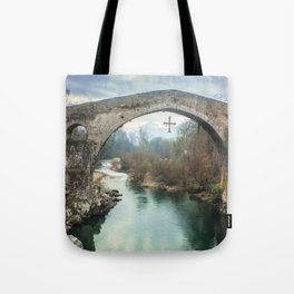 The hump-backed Roman Bridge Tote Bag