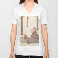 forrest V-neck T-shirts featuring Forrest creatures by Loezelot