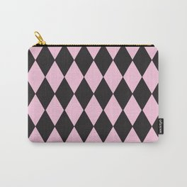 Harlequin pink & black Carry-All Pouch