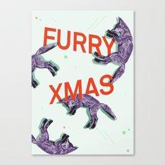 Furry xmas Canvas Print