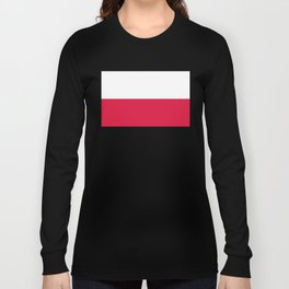 Flag of Poland - Authentic (High Quality Image) Long Sleeve T-shirt