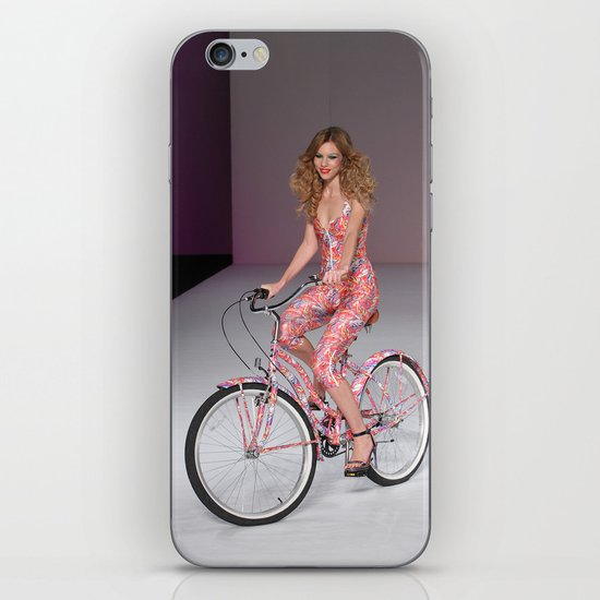 Girls on Bikes iPhone & iPod Skin