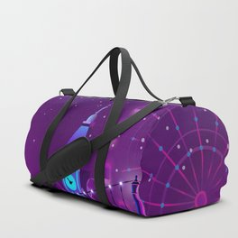 Synthwave Neon City #3 Duffle Bag
