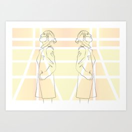 Yellow Thoughts Art Print