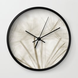 Dandelion Neutral Closeup Wall Clock