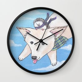 Biddy and Charlie Wall Clock